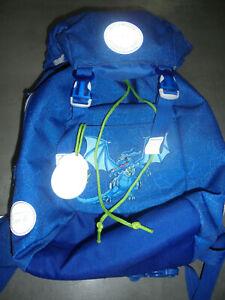 Beckmann KITA Rucksack mit Regenschutz Blau Drache