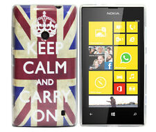 Schutzhülle f Nokia Lumia 520 Tasche Case Cover TPU Silikon keep calm GB UK