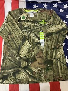 Mossy Oak Break Up Infinity Camouflage Shirt Long Sleeve T-Shirt Size Youth L YL