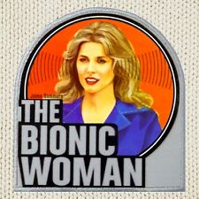 The Bionic Woman Patch Picture Embroidered Border Jaime Sommers Steve Austin