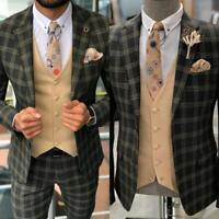 2 Pieces Jacket Pants Coat Men Suits Wedding Slim Fit Dinner Formal Tuxedos