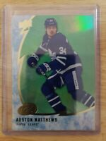 AUSTON MATTHEWS 2019-20 Upper Deck Ice Green Parallel #16 Toronto Maple Leafs UD