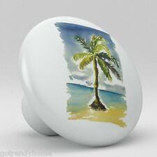 Palm Tree Tropical Beach Ocean Ceramic Knobs Pulls Kitchen Drawer Dresser 1111
