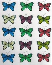 15 EDIBLE BUTTERFLY RICE PAPER WAFER CARD CAKE CUPCAKE PARTY TOPPERS
