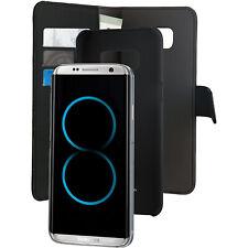 Funda Puro 2 en 1 Magnética Negra 3 tarjeteros+Billetero Samsung Galaxy S8 Plus