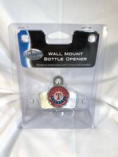 Texas Rangers Wall Mount Metal Silver Bottle Opener MLB Baseball Bar Kitchen