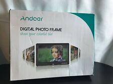 Andoer digital photo frame HD LED Screen 16:9 aspect ratio Supports Memory card