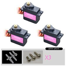 3Pcs Digital Servo Metal Gear MG90 S For ALIGN T-REX 450 Pro DFC Swashplate