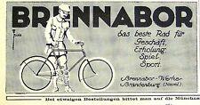 BRENNABOR Das beste Fahrad Brennabor-Werke Brandenburg Originalreklame  1913