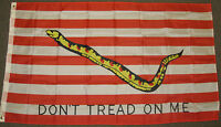 3X5 DON'T TREAD ON ME NAVAL JACK FLAG DONT NAVY US F525