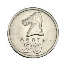 elf Greece 20 Lepta 1976 BU  Horse