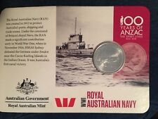WWI Royal Australian Navy - 100 Years Of Anzac 20c Uncirculated Coin