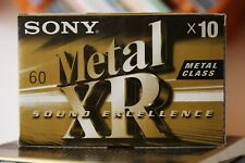 10 SONY METAL XR 60 audio cassette tapes Excellent!