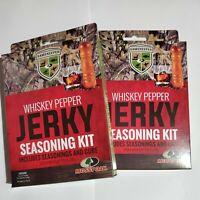 2 Mossy Oak GameKeepers whiskey pepper Jerky Seasoning Kit beef or wild game