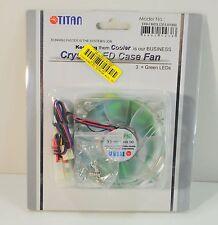 TITAN - Crystal LED Case Fan - Z axis Bearing - 2000 RPM - 12 V - 0,23 dBA - L