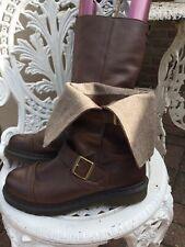 Doc Martens Rare  Kathleena  Brown/herringbone Leather Ladies Boot Uk7 Excellent