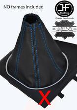 BLEU COUTURE SOUFFLET LEVIER DE VITESSE CUIR POUR FORD MONDEO MK3 III 01-03