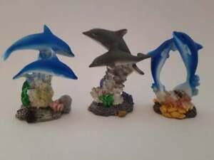 Deko Delfine 3erSet ca. 8 cm, Dekoration Figur Figuren Tiere Delfin Fisch Meer