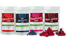 4x 100g Freeze Dried Strawberries Raspberries Wild Blueberries Sour Cherries