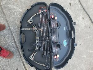 PARFRONTIERRTH70 Parker frontier compound bow. RH. case, release & quiver includ