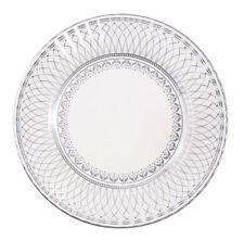 8 x Banquet Silver Paper Plates - Silver Wedding 25th Anniversary Wedding Party