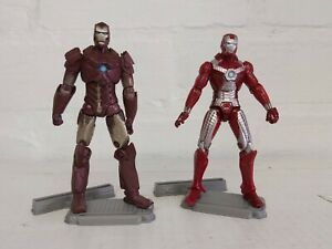 Marvel Iron Man Hypervelocity Armour & MK V  HASBRO Figure lot w/ Stand 2010