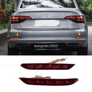 2019-2020 For Volkswagen Jetta MK7 LED Rear Fog Light / Brake Warning Light 2pcs
