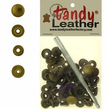 Tandy Leathercraft 7/16 Inch Line 20 Snap fastener kit CT.15 w/Tools - Brass