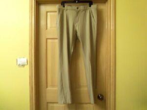 Adidas Golf Men's Ult365 Regular Tapered Pants Khaki Size 34x34 Light Brown