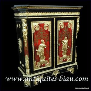 Red Cabinet L.XIV stamped Béfort in Boulle marquetry 19th Napoleon III period