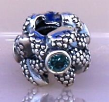 Pandora ALE Sea Star Turquoise Bead Charm in Sterling Silver 925