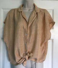 H&M Ladies shirt crop tie top size 12