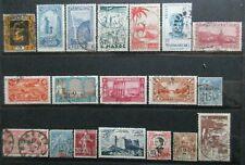 EX COLONIES  lot timbres oblitérés avant 1960 bon état YI15