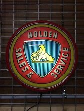 HOLDEN SALES & SERVICE BUTTON LIGHT 240V PERFECT BAR MAN CAVE HOT ROD