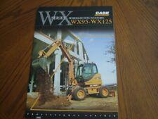 Case WX Series Wheeled Excavators Brochure. Ex Cond. 2005.