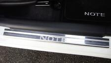 Nissan Note 2012 Onwards Mk2 4 x Chrome Door Sill Protectors Kick Plates NEW