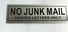 NO JUNK MAIL METAL Door Sign Door Information Signs for Home  Shops 6cm X 20cm