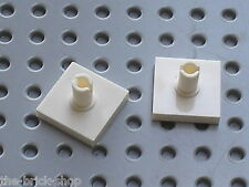 LEGO white Tile 2 x 2 with Pin ref 2460 / Set 8654 7171 10216 6472 6332 7237 ..