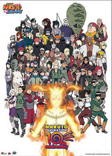 Naruto Shippuden 10th Anniversary Wall Scroll Poster Anime Cloth Licensed NEW