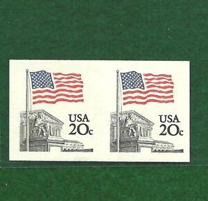US # 1895d (1981) 20c MNH Imperforate Pair GEM