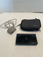 Nintendo DS Lite Handheld Console Onyx Black - Case & Charger. No Stylus. Tested