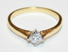 Stunning 18ct Gold Princess Cut Diamond Solitaire Engagement Ring 0.33cts Size P