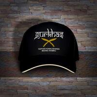 Gurkha Gorkhas Nepalese British Royal Special Forces Kukri Knives Embro Cap Hat