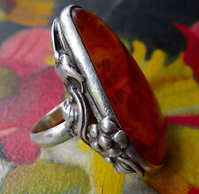 Amber Vintage Costume Rings (Unknown Period)