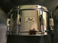 """Pearl-SS-Steel Shell Snare Drum-6.5"""" x 14""""-8 Lug-1.6mm Hoops"""
