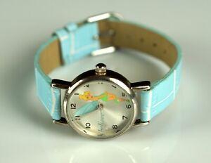 Watch - Womens DISNEY TINKER BELL RARE Silver Wand 25mm Watch TKN452 Green Strap