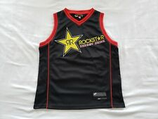 Rockstar Energy One Industries Motocross First Black Jersey Red Trim Large