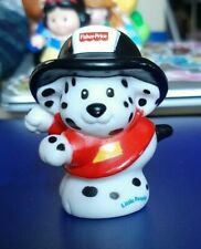 Fisher Price Little People Fire Dalmation Station Fireman Black & White Dog
