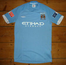 MANCHESTER CITY football Shirt  12-14 years (158) HOLLAND 7 FA CUP Soccer Jersey