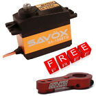 Savox SA-1256TG High Torque Titanium Gear Digital Servo w/Free Red Alum Horn